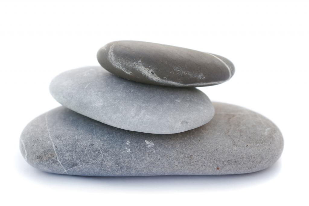 Stones stacked after Zen