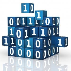 Digitalisierung von Geschäftsmodellen - Würfel mit 1en und 0en